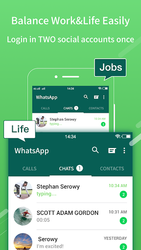 2Face-2 Accounts for whatsapp&social apps 1.11.15 gameplay | AndroidFC 2
