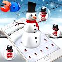 3D Ice Snowman Theme ☃️ icon
