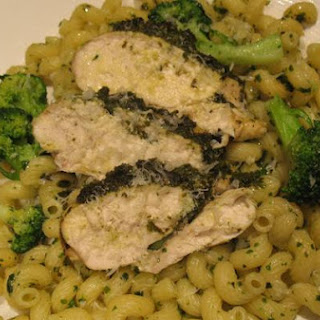 Pesto Chicken and Pasta With Broccoli