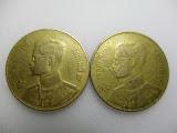 เหรียญกษาปณ์ 50 สตางค์ ปี 2493 (2 เหรียญ)