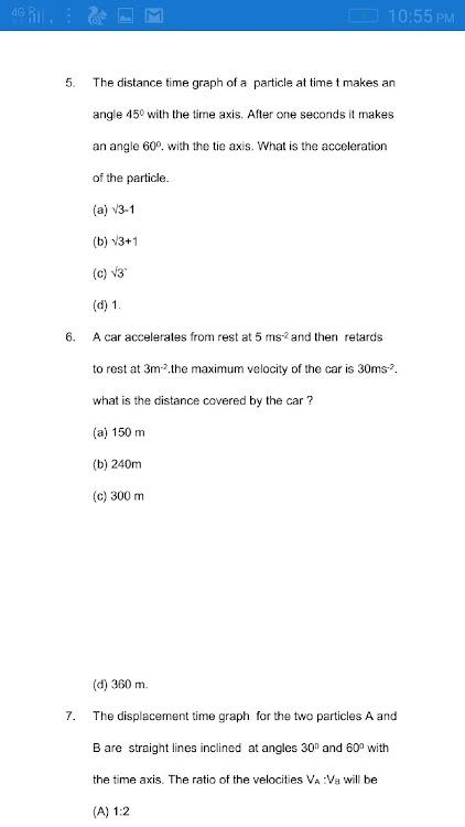 Physics MCQS For IIT-NEET IAS GCSE SAT MAT Exams – (Android