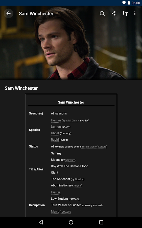 Fandom: Supernatural- screenshot