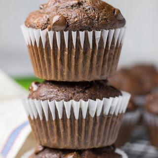 Healthy Chocolate Zucchini Muffins.