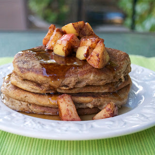 Apple Cider Pancakes with Cinnamon Apples {Gluten-Free}