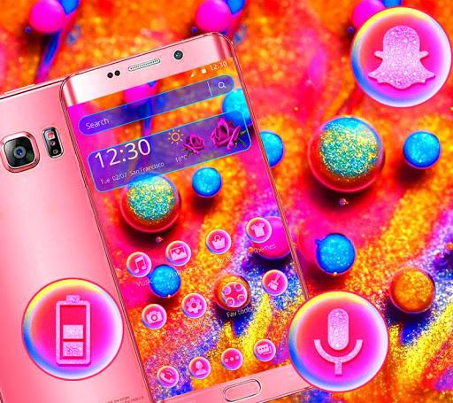 Colorful Shining Glitter Ball Theme ss2