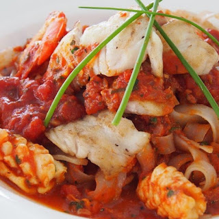 Pressure Cooker Mixed Seafood Marinara
