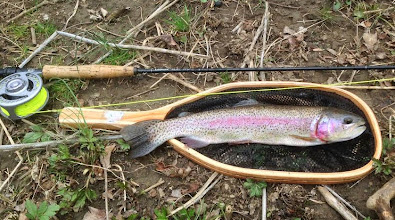 """Photo: Got this photo and e-mail yesterday from our friend and customer Kevin Lottes: Hey Guys: I was in the store yesterday still basking in my """"Rainbow Glow"""" after catching this beauty on the Upper Mad on Monday. I'm not on Facebook, but you guys said you could do the bragging for me smile emoticon See photo attached."""