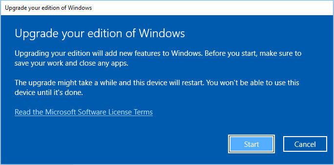 قم بترقية Windows 10 Home إلى Pro Free