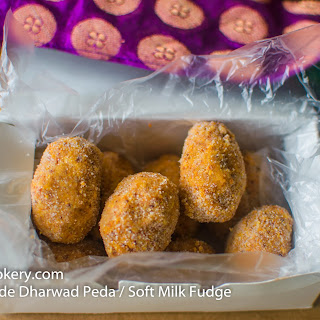 Home Made Dharwad Peda / Soft Milk Fudge