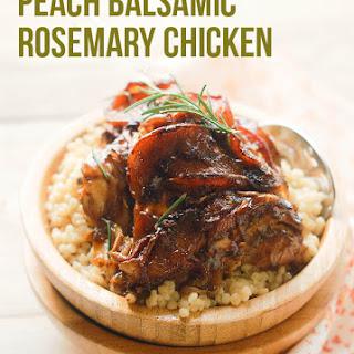 Paleo Chicken Recipe - Peach Balsamic Rosemary Chicken.