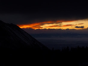Photo: More sunset action as we neared our high camp