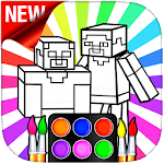 Coloring Craft Characters Icon