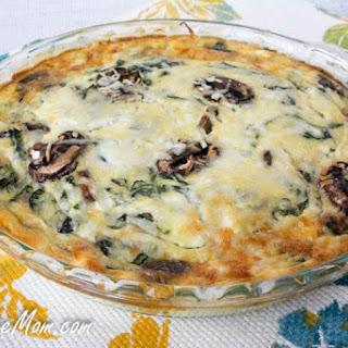 Crustless Mushroom Spinach Pie.