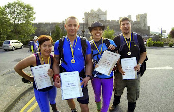 Photo: The 4x4sb team, Blanka Olejarska, Sebastian Nalewko, Barbara Nalewko and Tomasz Brus back in Cahir after the Galtee Challenge, Sunday June 29th, 2014