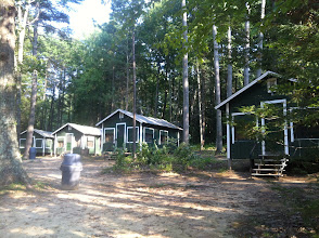 Photo: The Juniors Cabin area. This is where Players will sleep in Cottington Woods. There are 10 beds/5 bunks per cabin.