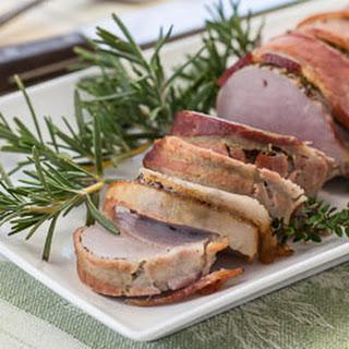 Roasted Bacon-Wrapped Pork Tenderloin