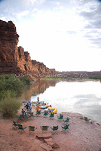 Photo: Camping in Cataract Canyonwhile whitewater rafting in Canyonlands National Park, UT.