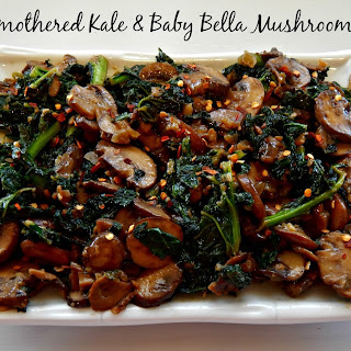 Smothered Kale & Baby Bella Mushrooms