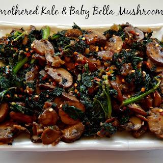 Smothered Kale & Baby Bella Mushrooms Recipe