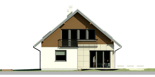 Dom przy Cyprysowej 23 - Elewacja lewa