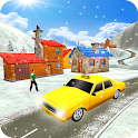 Taxi driver 3D Snow season icon
