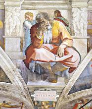 """Photo: Пророк Єремія. Кондак пророка Просвічене духом чисте серце Твоє стало приютом світлішого пророцтва, бо бачиш далеке, як теперішнє. Ради цього почитаємо Тебе, пророче блаженний, славний. (Кондак пророкові, глас 4) Святий Єремія народився 650 року до Христа в селі Анатоті поблизу Єрусалима і був сином юдейського священика. Пророкувати покликав його Бог, коли йому було тільки 25 років. Про це так пише сам Єремія: """"Надійшло до мене таке слово Господнє: """"Перш, ніж Я уклав тебе в утробі, Я знав тебе; і перш, ніж ти вийшов з лона, освятив Я тебе; пророком для народів Я тебе призначив"""" (Єр. 1, 4-5).  Свої пророцтва великий Божий слуга записав і залишив нам у своїй пророчій книзі, яка належить до натхненних книг Старого Завіту. Також пророк написав """"Плач Єремії"""", у якому описав зруйнування Єрусалима й нещастя ізраїльського народу в той час. Загинув від рук юдеїв у Єгипті. http://ecumenicalcalendar.org.ua/2016/05/14/apostle/pror-eremiyi"""