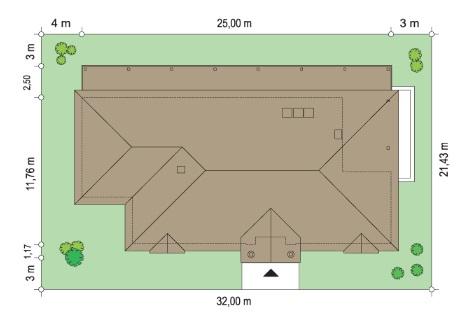 Rezydencja parkowa 4 - Sytuacja