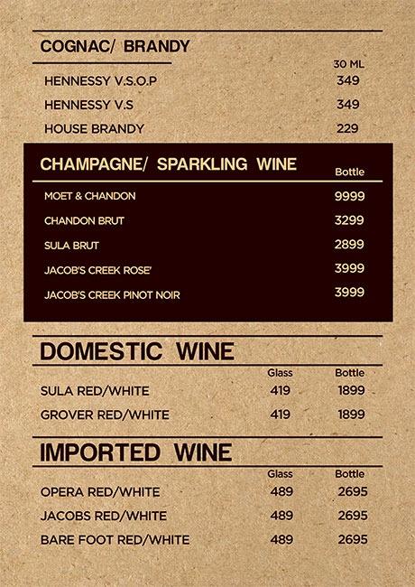 Friction The Drinkery menu 9
