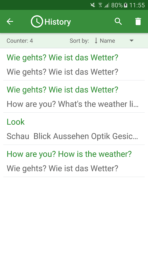 German - English Translator- screenshot