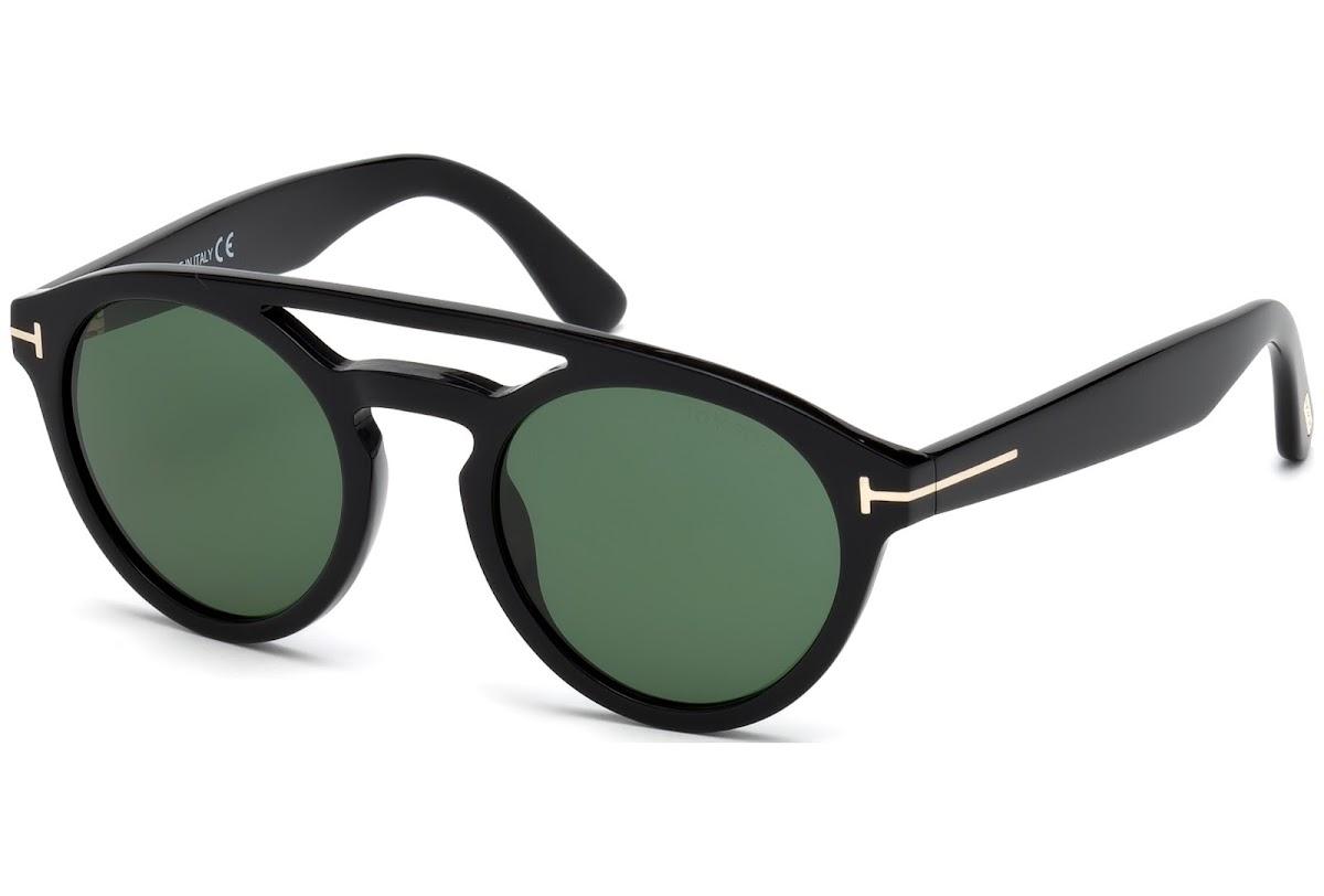 f4ff4ea221336 Buy Tom Ford Clint FT0537 C50 01N (shiny black   green) Sunglasses ...
