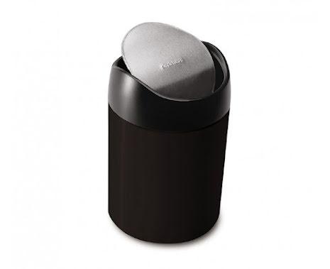 Bords avfallsbehållare Svart Simplehuman