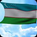 Uzbekistan Flag 3D Free icon