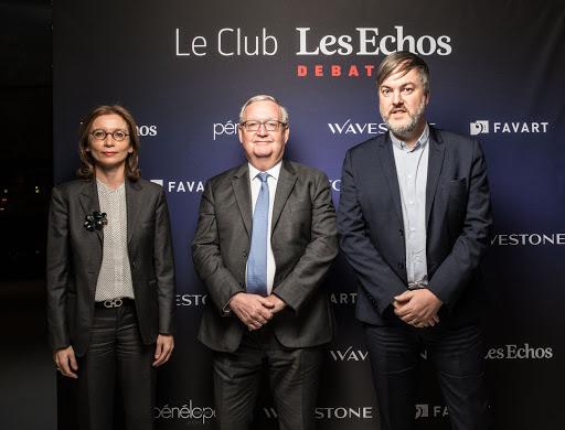 Club Les Echos Débats avec Patrick Artus et Mathilde Lemoine (Favart)