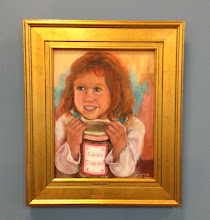 """Photo: """"Cookie Face"""" Oil painting by Sydelle Sher Art exhibition at Weissman Center"""