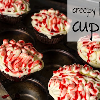 Creepy Brain Cupcakes {vegan}.