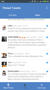Thread Tweets- screenshot thumbnail