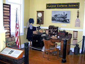Photo: Display of paraphernalia at the Old Depot on Broad Street; open to the public during special occasions such as December Model Train Show and the annual June Old Homes Tour