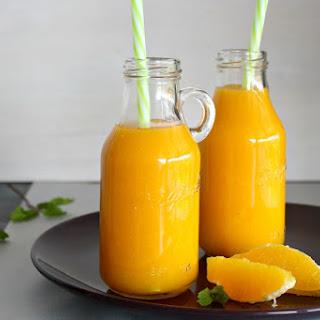 Mango Orange and Ginger Hot Smoothie.