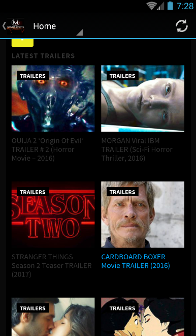 MoviesEvents (Movie Trailers)- screenshot