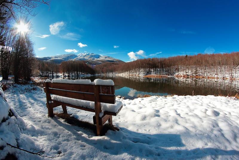 la panchina sul lago di Sil-M