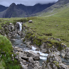 Fairy Pools, Isle of Skye by Nico Sinselmeijer - Landscapes Mountains & Hills ( scotland, fairy pools, mountain, waterfall, travel, travel photography, hiking, isle of skye )