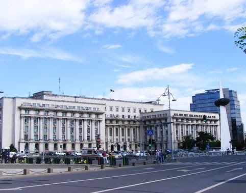 Revolution Square in Bucharest on Victoria Avenue