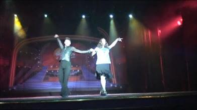 Photo: Karen dancing Cha Cha on the main stage