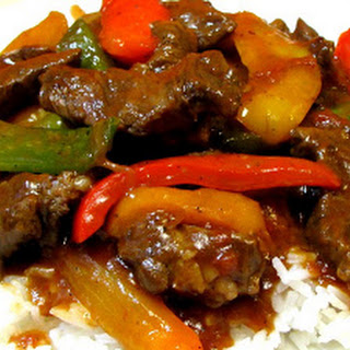 Slow Cooked Pepper Steak.