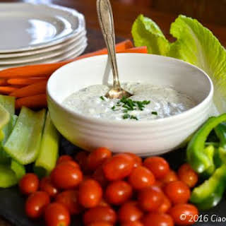 Greek Yogurt Ranch Dip.