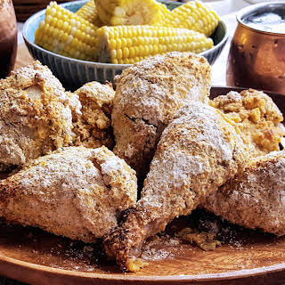 Oven Fried Cornmeal Crusted Picnic Chicken (Low FODMAP, Gluten Free, & Dairy Free).