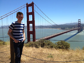Photo: Brock and the Golden Gate Bridge