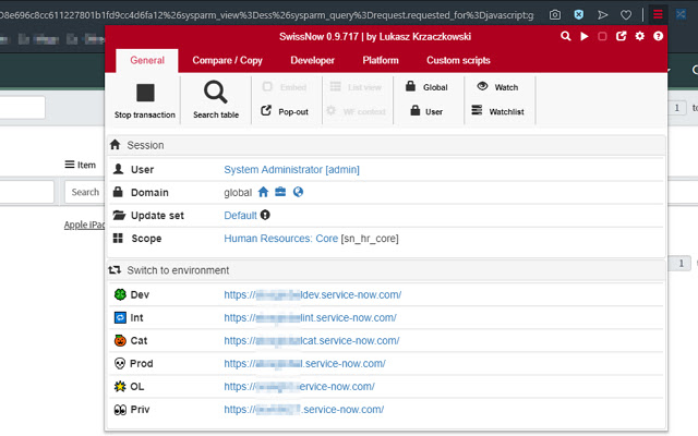 SwissNow (On Premise) - ServiceNOW toolbox