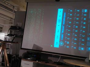 Photo: Examining the #qml code controlling sharers on #n9 #QtMeetup  https://skydrive.live.com/?cid=2d0fd211803da205&Bsrc=TWITRAPXX&Bpub=SN.Notifications&id=2D0FD211803DA205%21114&sff=1