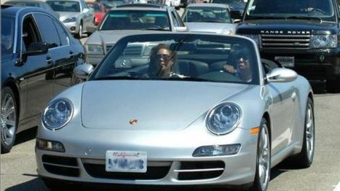 Jay-Z and Beyonce in Porsche 911 Carrera Cabriolet